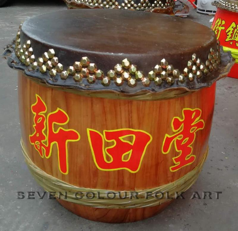 Raw wood drums for lion dance 3