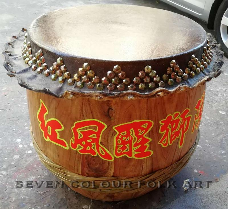 Raw wood drums for lion dance 8