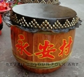 Raw wood drums for lion dance