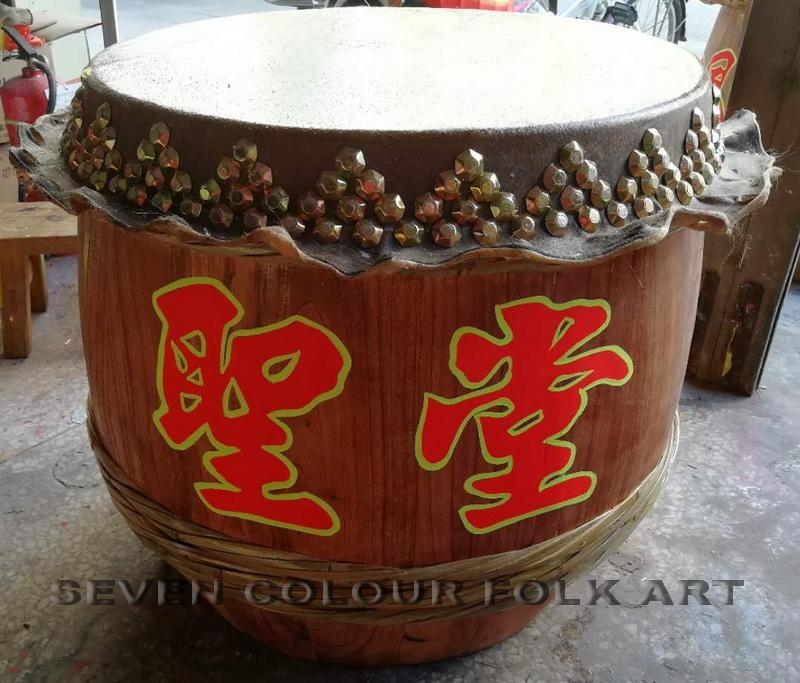 Raw wood drums for lion dance 7