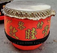 Beautiful painting drums for lion dancing