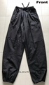 100% cotton Kung Fu black pants with