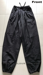 100% cotton Kung Fu black pants with/without extra crotch