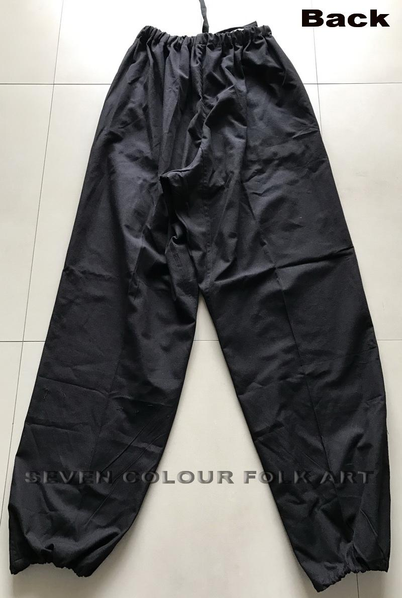 100% cotton Kung Fu black pants with/without extra crotch 2