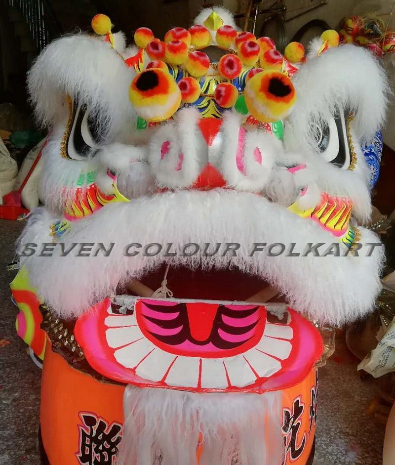 Futsan style lion head with ram fur 4