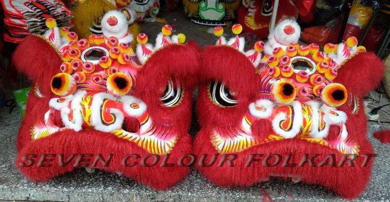 Futsan style lion head with ram fur 5