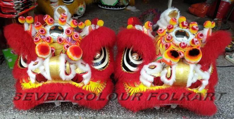 Futsan style lion head with ram fur 6