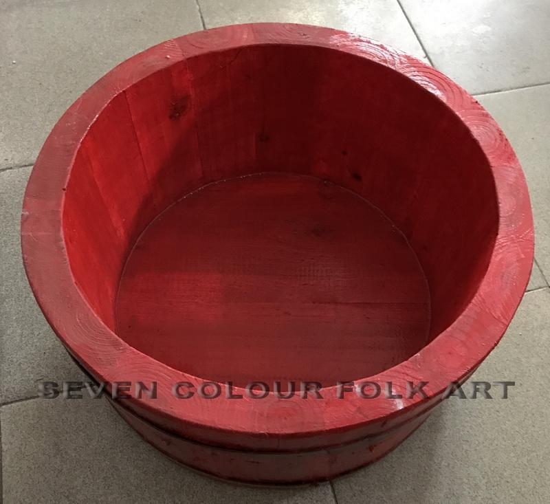 Wooden bucket for lion dancing 2