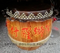 Raw wood drums for lion dance 1