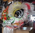 Chinese traditional lion heads with white bristle 2