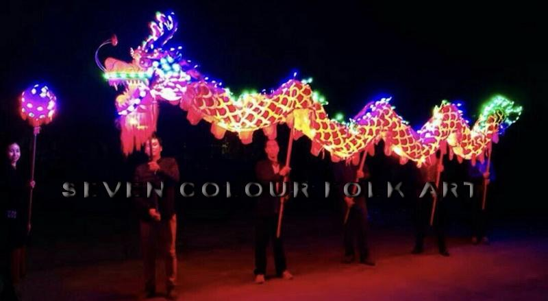 Dragons with LED lights 3