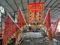 Flags set for lion dance team