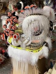 White ram fur lion heads