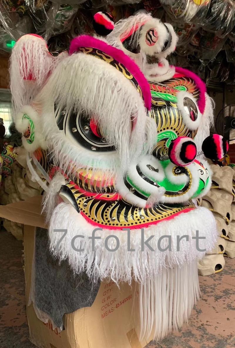 White ram fur lion heads 2