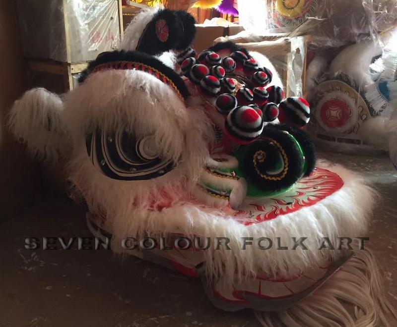 White ram fur lion heads 3