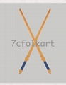 Kungfu weapons bamboo sabers