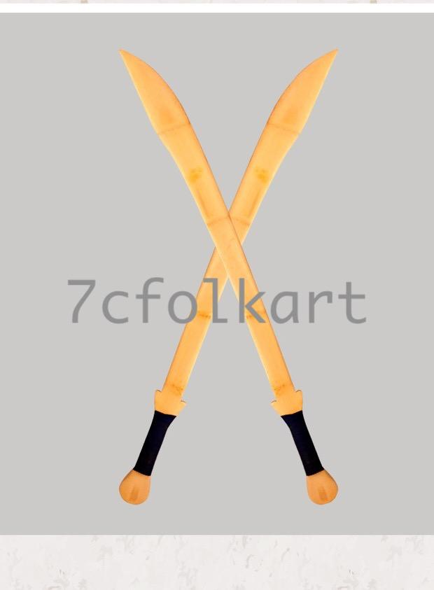 Kungfu weapons bamboo sabers 4
