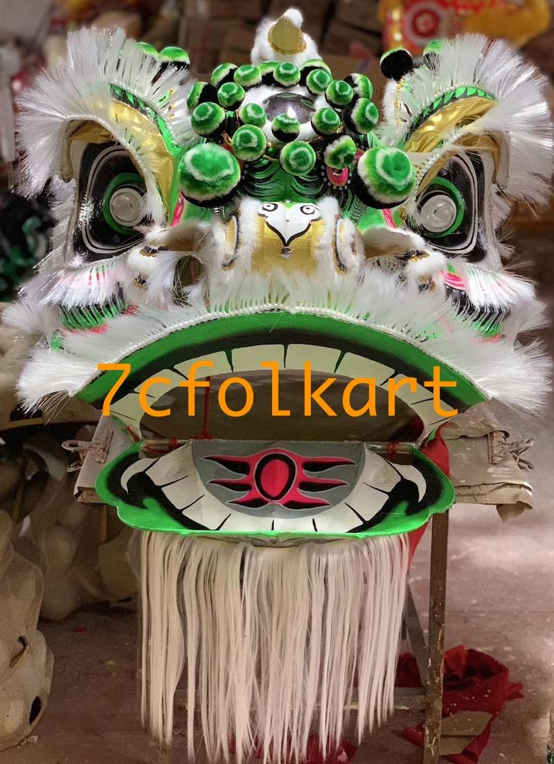 Traditional Futsan style lion heads with gold corn cheeks 5
