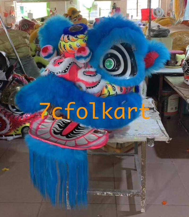 Futsan style lion heads with wool in different colors 13