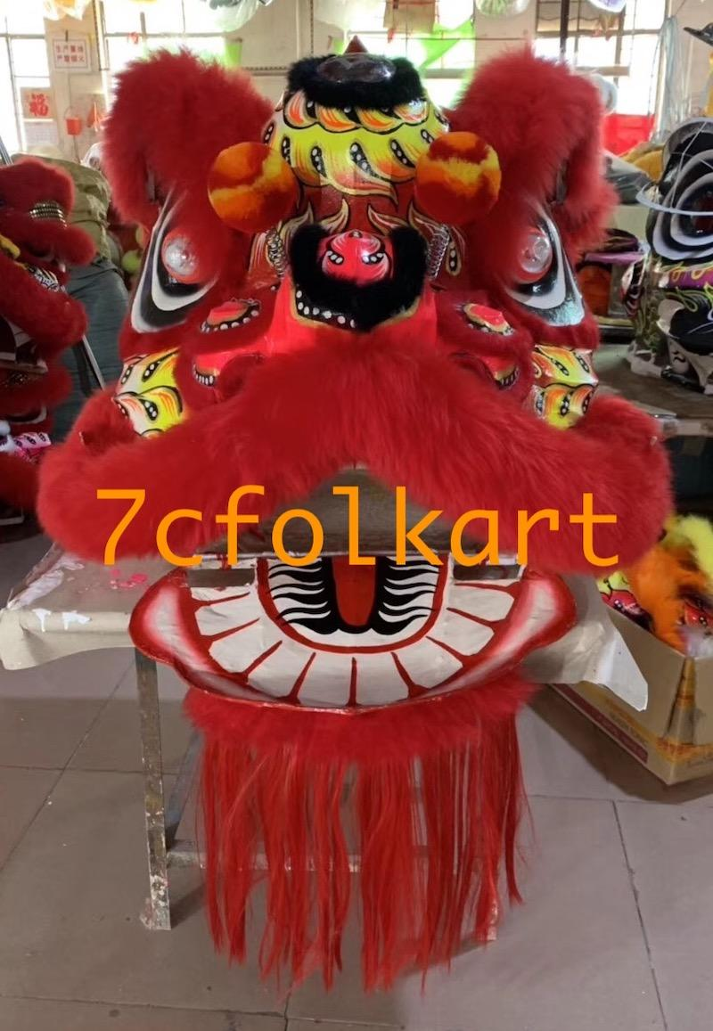 Futsan style lion heads with wool in different colors 6