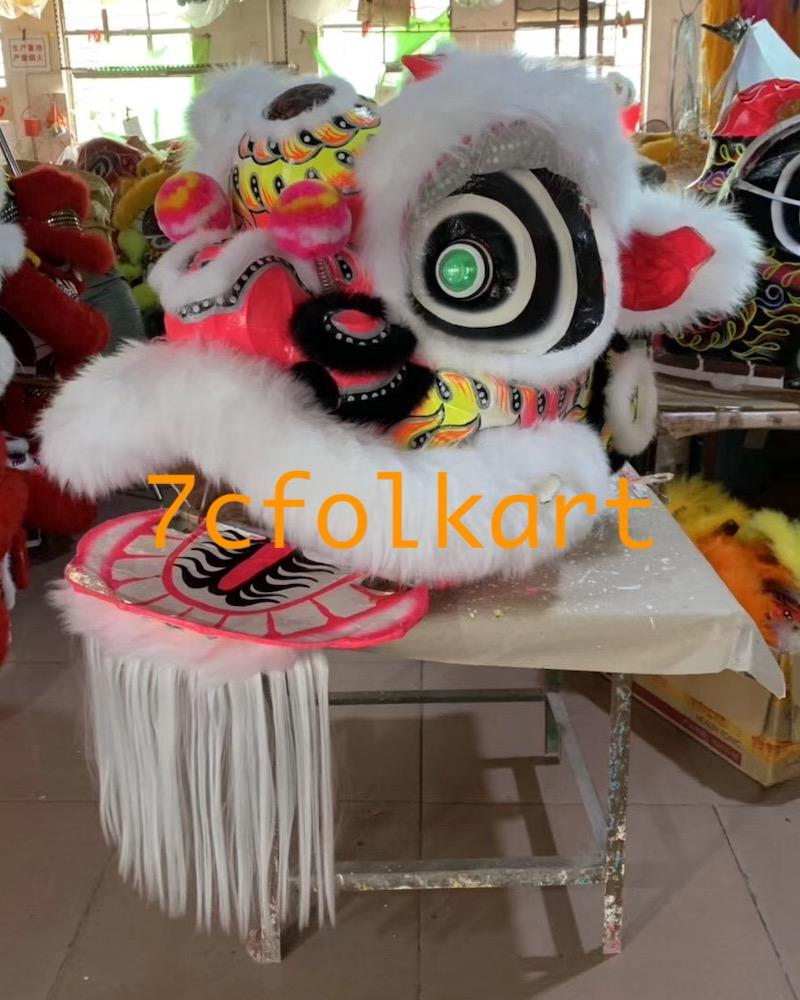 Futsan style lion heads with wool in different colors 12