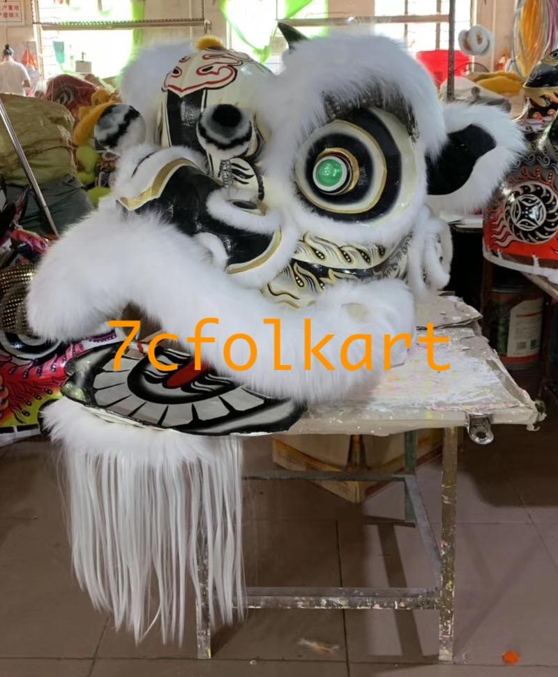 Futsan style lion heads with wool in different colors 2