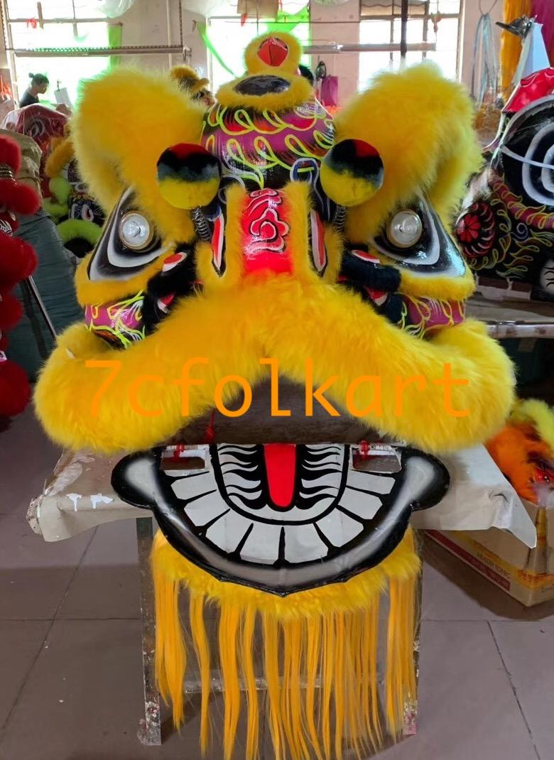 Futsan style lion heads with wool in different colors 8