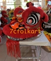 Hoksan style lion heads with wool in different colors