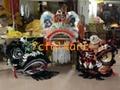 Traditional three generals Liu Bei, Guan Gong and Zhang Fei bristle lion heads