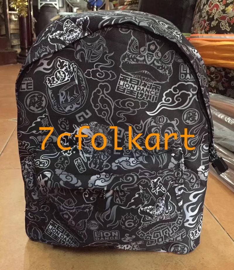 Backpacks with lion dance design 1