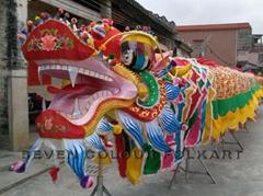 Handmade Fabric Dragon Head