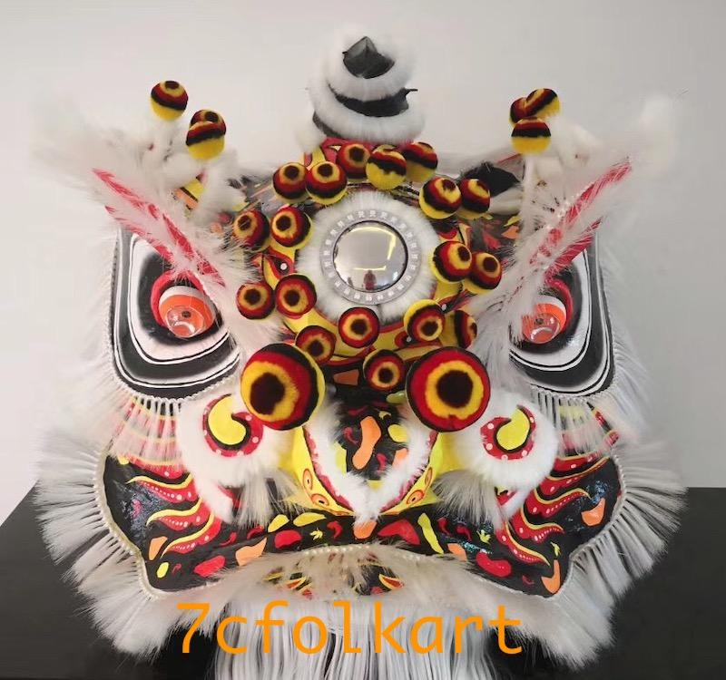 Traditional lion head with modern design painting 1