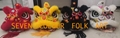 Futsan lion with sheep fur in black/red/white/golden-yellow colors for option