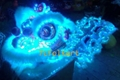 Blue LED Lion