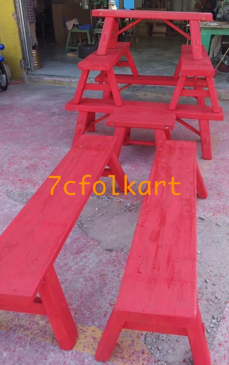Benches for lion dance 1