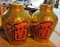 Wine bottles for lion dancing