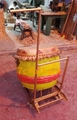 Foldable drum and gong cart for lion dance 2