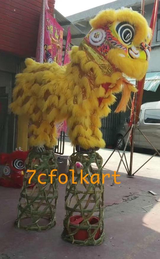 Bamboo pig cage for lion dance 1