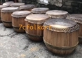High pitch raw wood drums for lion