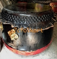 High pitch lion dance drum with black nails