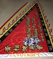 Beautiful printed triangular flag for lion dance