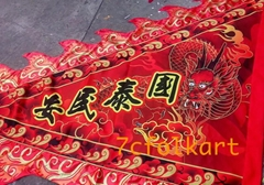Digital printed flags and banner for lion dance and dragon boat event