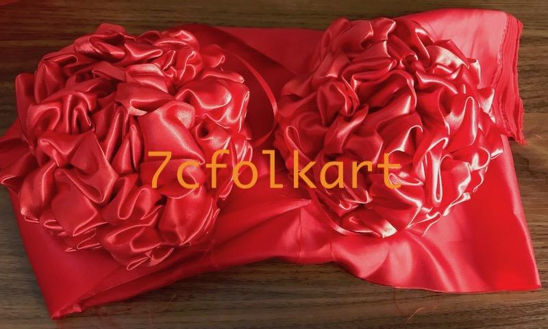 Red bow flowers for lion head, dragon boat, etc. 2