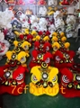 Futsan lion heads in golden yellow color and in red color