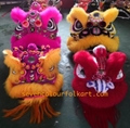 Pink and gold futsan style lion head with wool 4