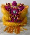 Gold and pink ram fur futsan lion head