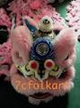 Pink fur futsan style lion