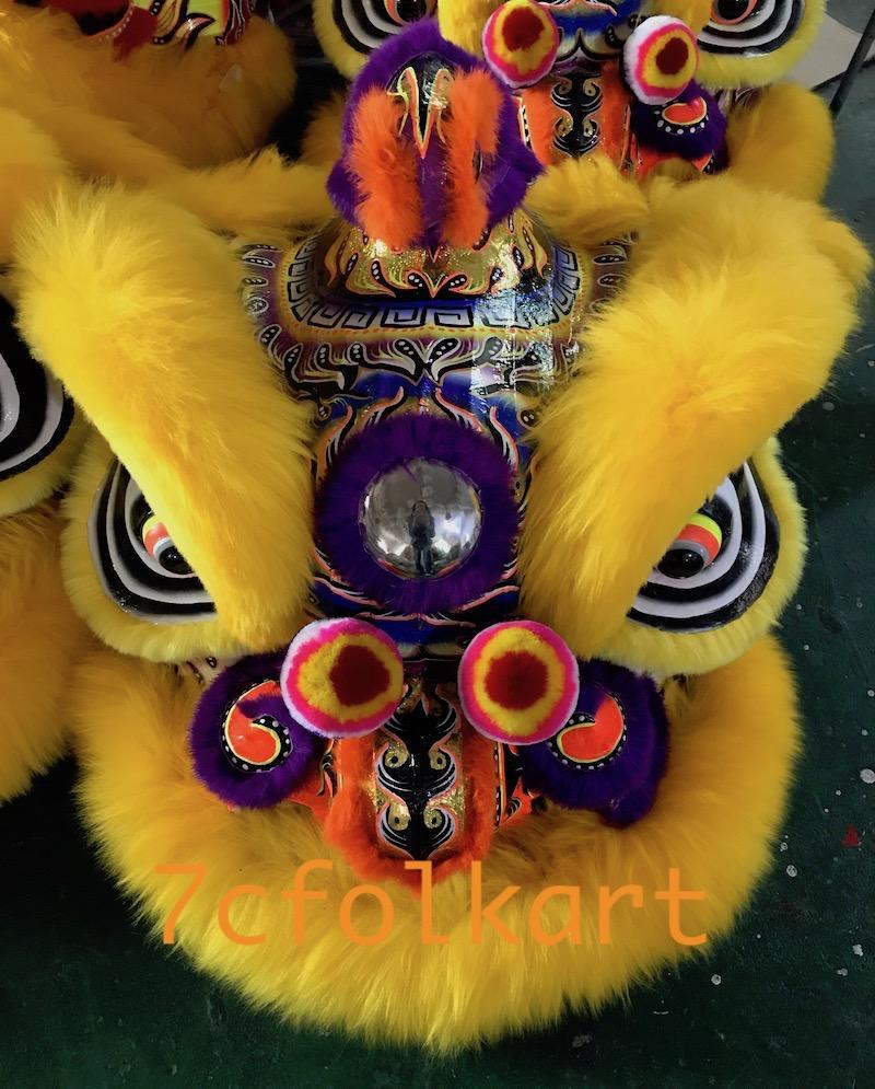 Gold-yellow sheep fur hoksan style lion heads 6