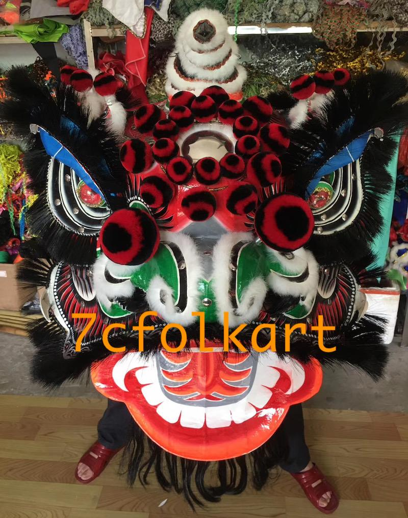 Futsan style traditional lion heads with bristle of good quality 10