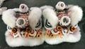 White fur futsan style twins lion heads